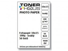 Fotopapír BTS 10x15 180g (50 listů) - lesklý