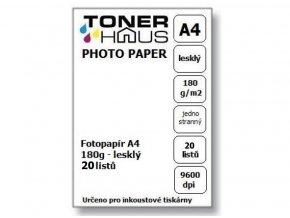 Fotopapír A4 180g (20 listů) - lesklý