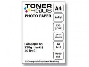 Fotopapír A4 230g (20 listů) - lesklý