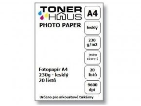 Fotopapír BTS A4 230g (20 listů) - lesklý