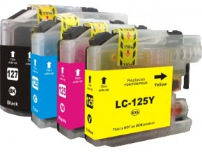 Cartridge-SET Brother LC-127XLCMYK - kompatibilní