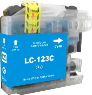 Cartridge Brother LC-123C - kompatibilní