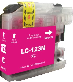 Cartridge Brother LC-123M - kompatibilní