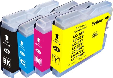 Cartridge-SET Brother LC-1000CMYK - kompatibilní