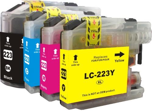 Cartridge-SET Brother LC-223CMYK - kompatibilní