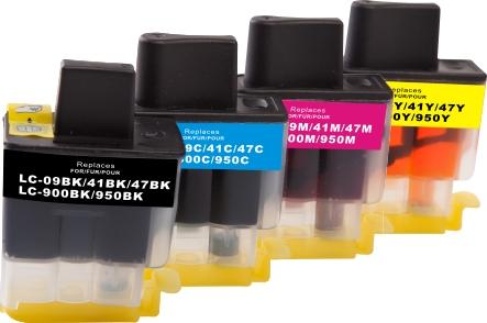 Cartridge-SET Brother LC-900CMYK - kompatibilní