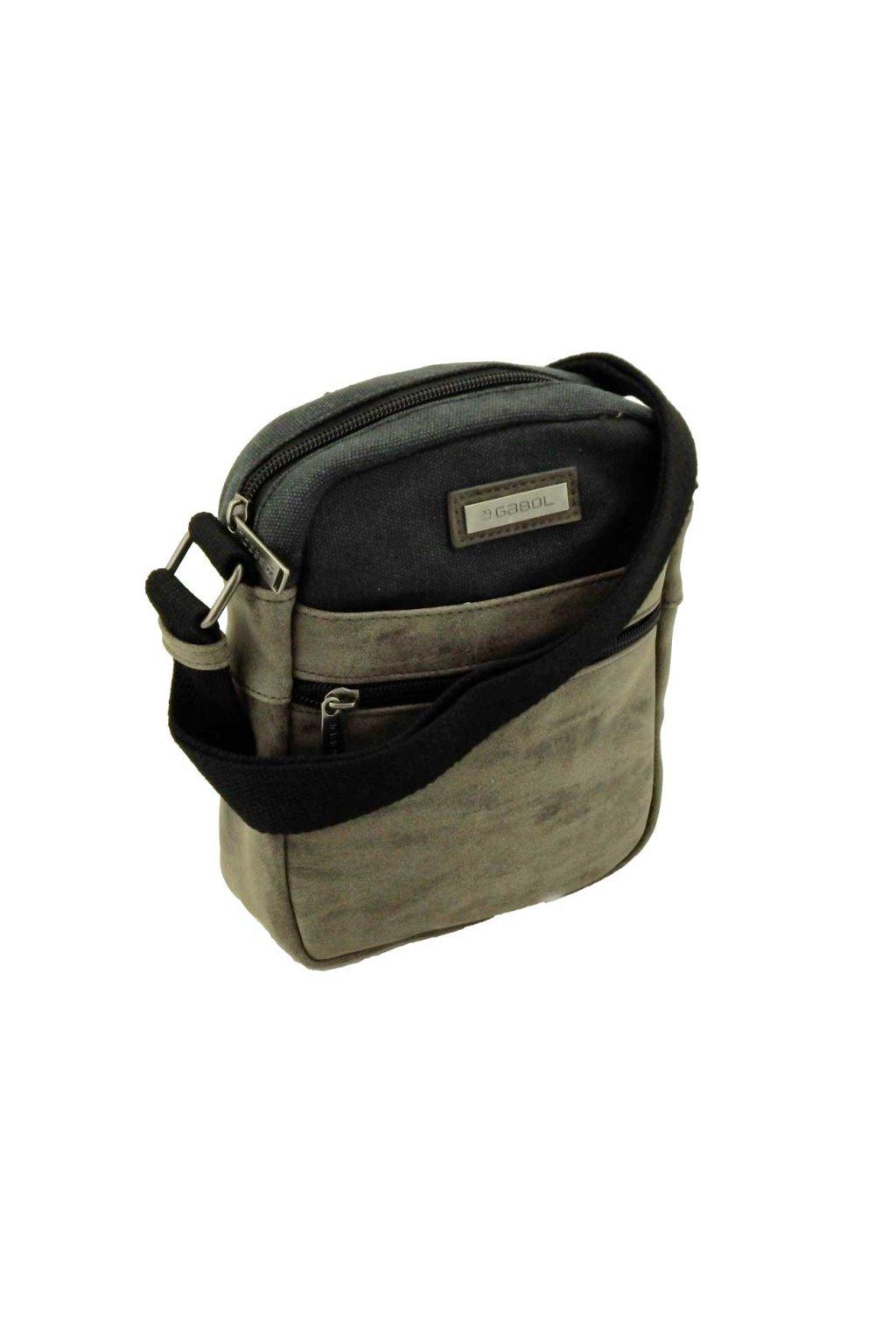 pánská taška přes rameno malá černakhaki PK070 528002