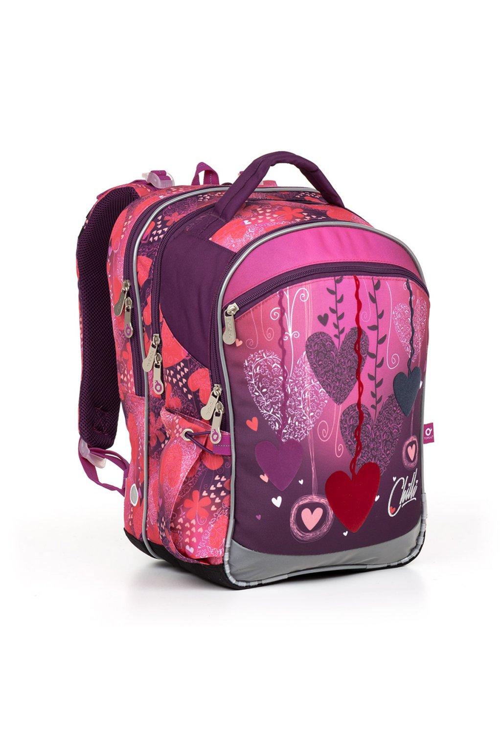 dívčí školní batoh topgal coco17002 g