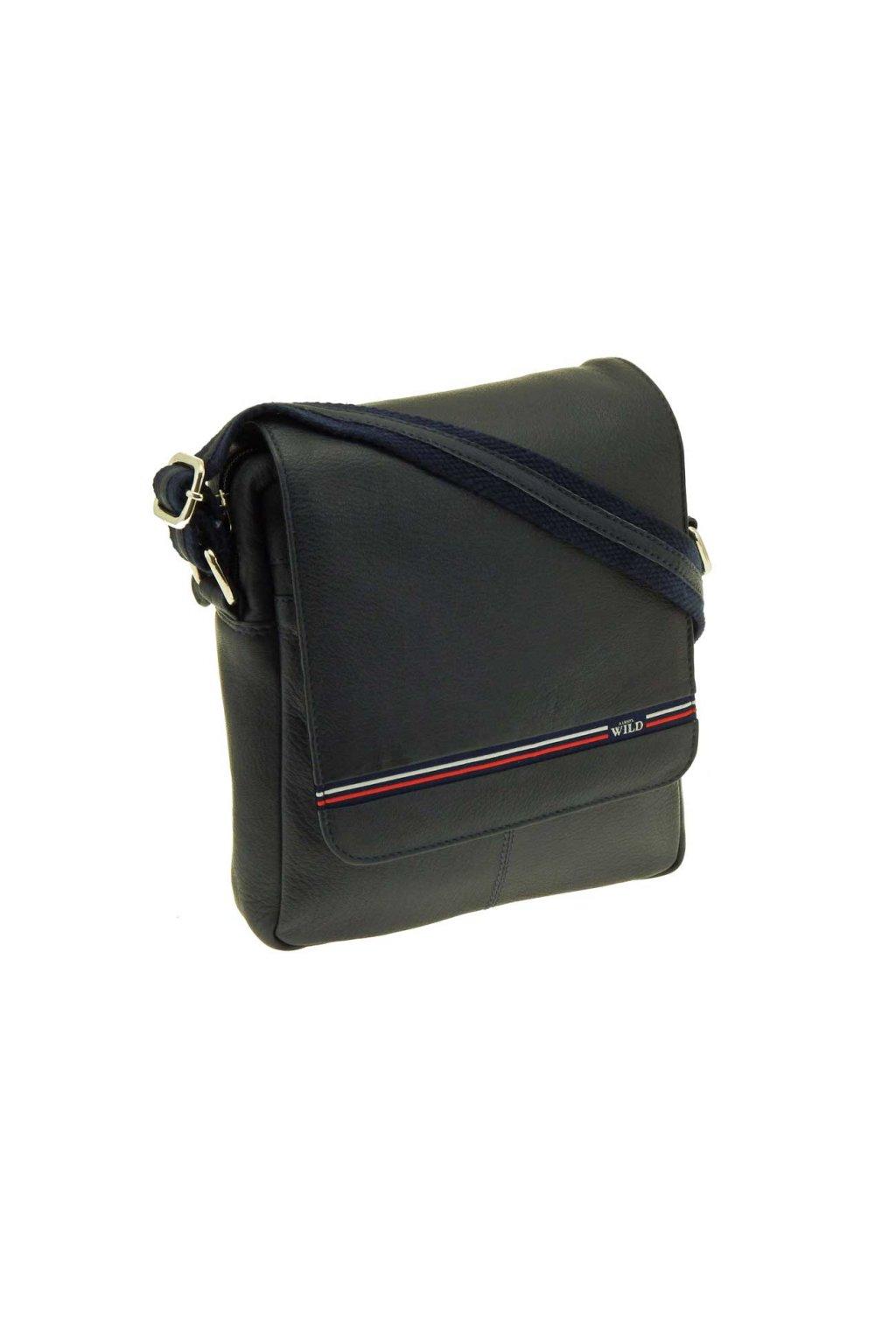 panska kozena taska pres rameno modra PKK43 W22