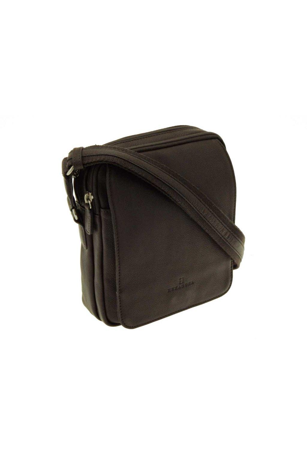 panska kozena taska pres rameno hneda PKK03 204568