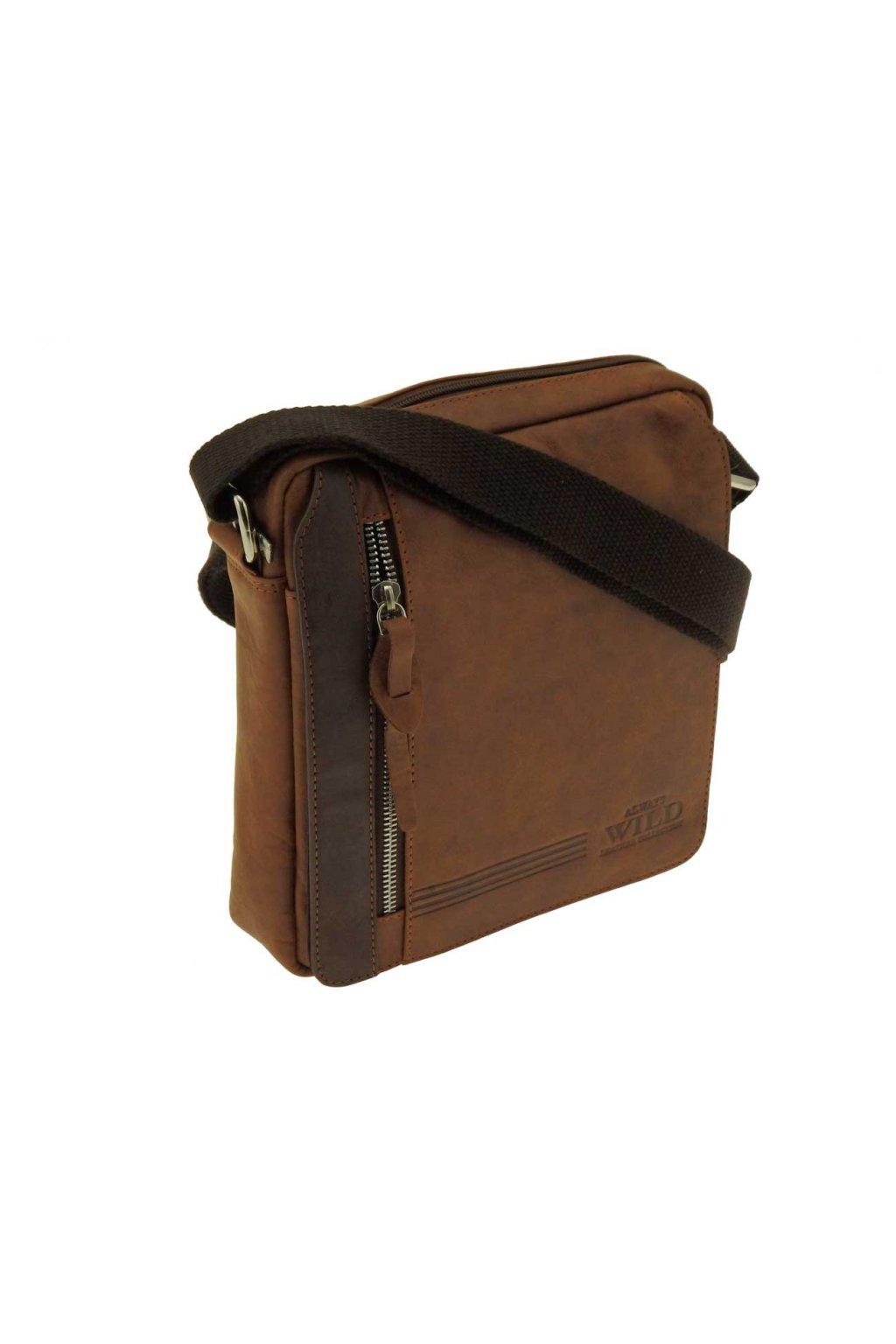 panska kozena taska pres rameno hneda TK10 BAG 3 HB