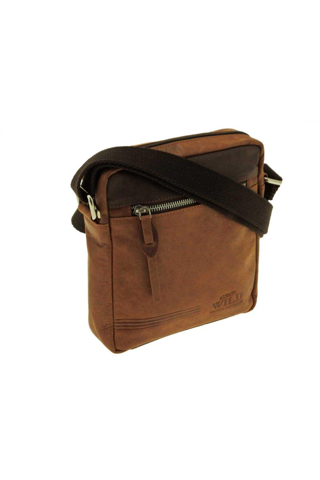panska kozena taska pres rameno hneda TK10 BAG 1 HB