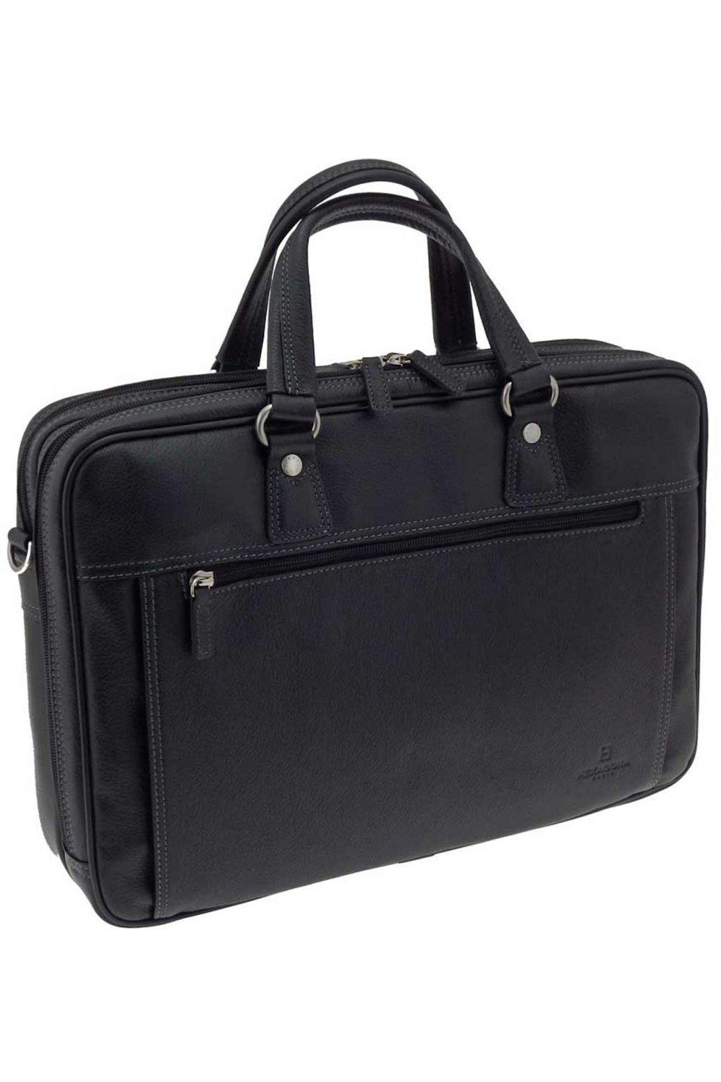 Pánská kožená taška černa PTK03 469544 C