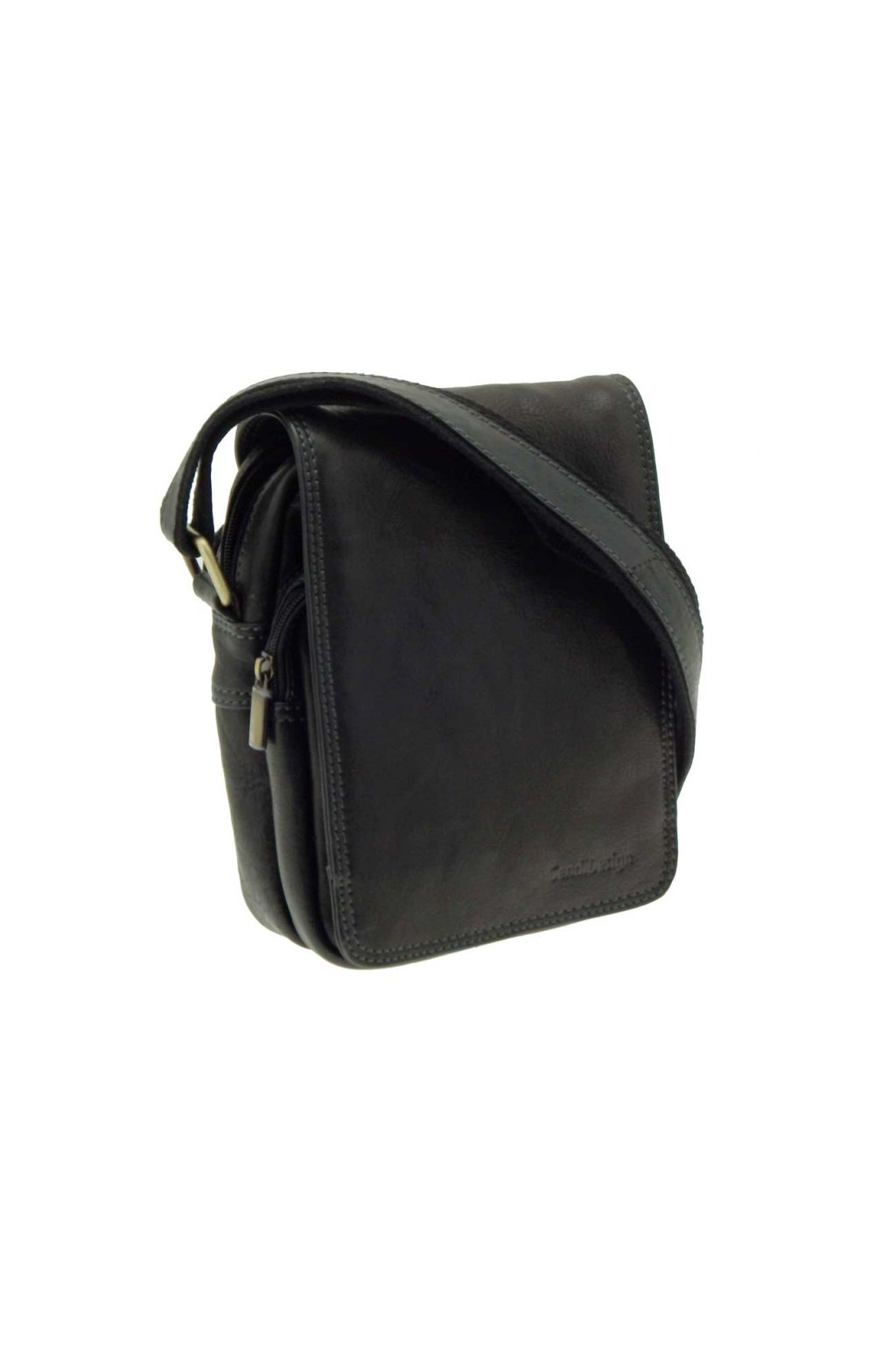 pánska kožená taška přes rameno černá PKK03 CT MG 708 C