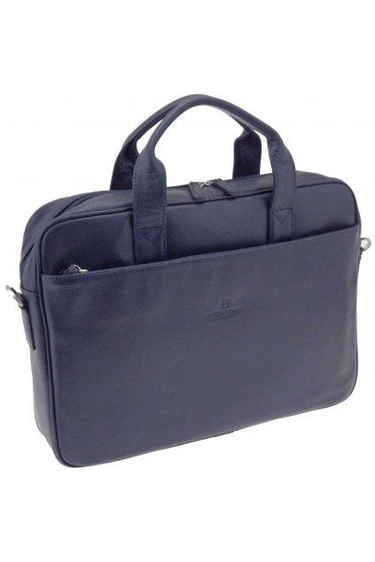 Pánská kožená taška modrá PTK03 462544 M