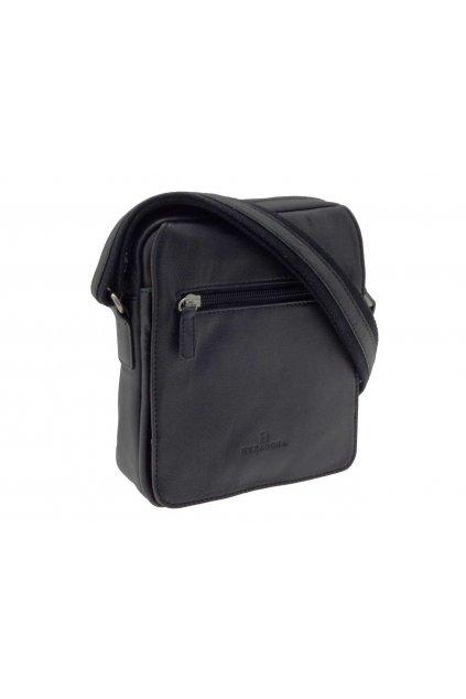 pánska kožená taška přes rameno černá PKK03 204567 C