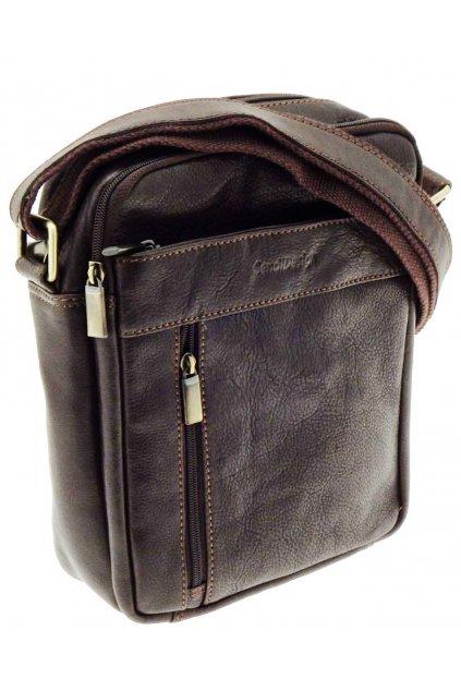 pánská kožená taška přes rameno černá TK03 CT MG 713 H