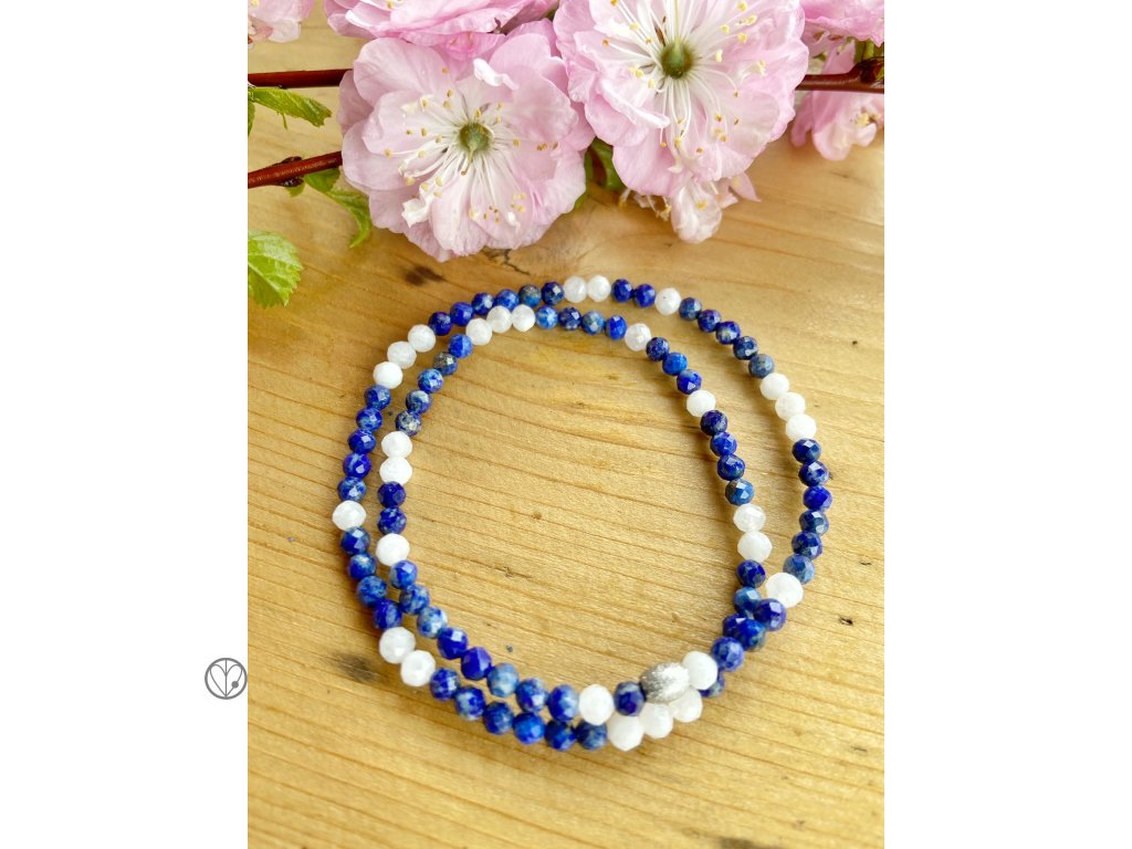 lapis lazuli mesicni kamen minimalisticky naramek wrap tonyem