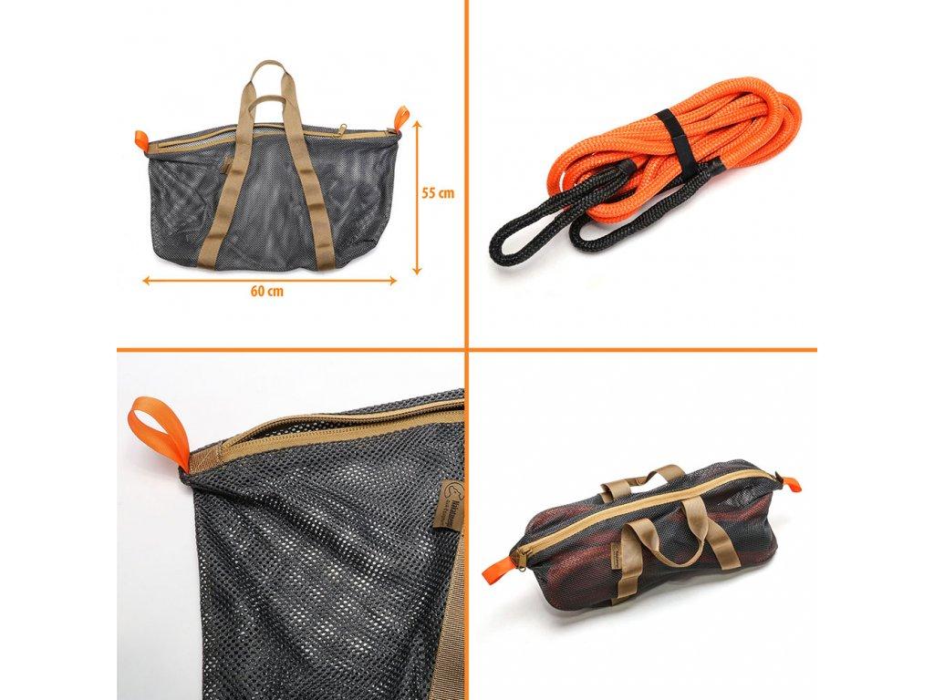 Bergeseil kinetisch orange 19mm 24mm mit Tasche offroad 4x4 BU TRATAKINTO KINTO5e7229d196ca1