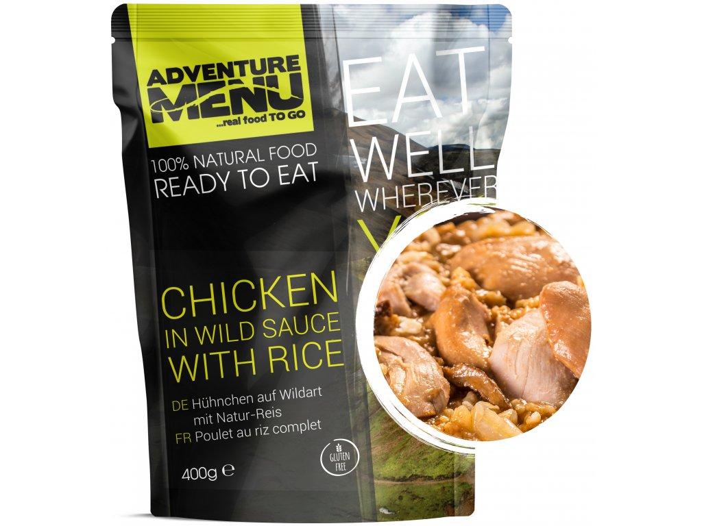 p Chicken in wild sauce