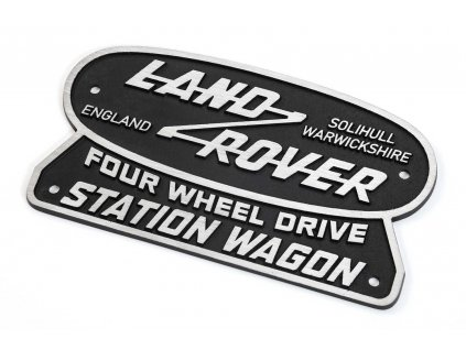 Defender Land Rover Nostalgie Emblem Logo Solihull Station Wagon NPLT SW 015fb24850d7e4c