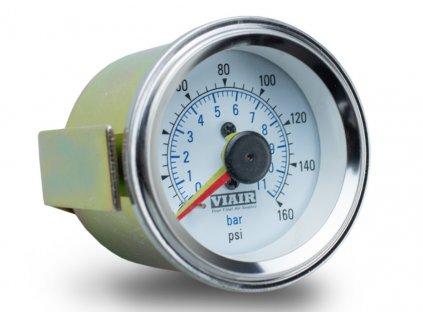 5102 viair ukazatel tlaku 2 dvojrucickovy bily podsviceny do 11 bar 160 psi