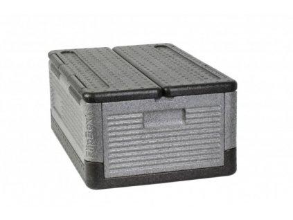 Flip-Box UL GN 1/1 skládací termobox, 39 l, 600 x 400 x 100, šedý