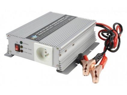 12V/230V/600W HQ měnič napětí DC/AC HQ-INV600W/12F; 600W; hq600/12