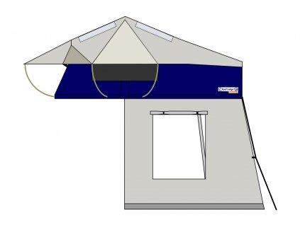 roof lodge evolution 2 extended mit bodenzelt