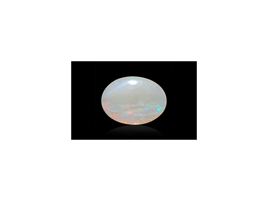 White Opal With Fire - 3.50 carats