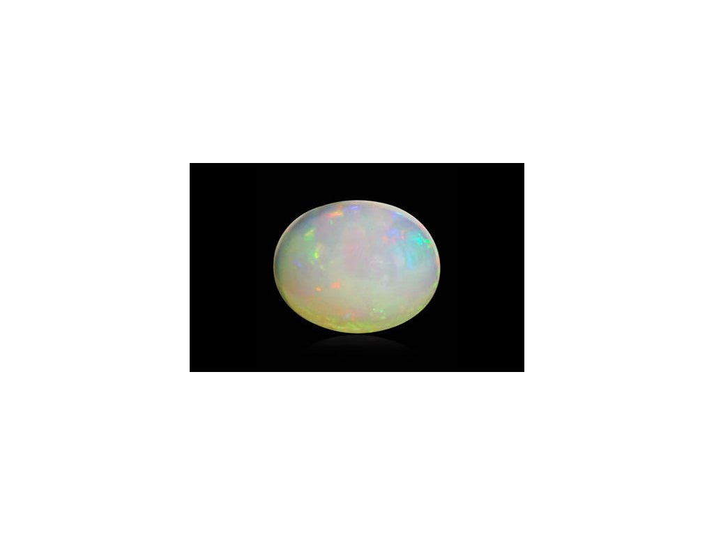 White Opal With Fire - 1.51 carats