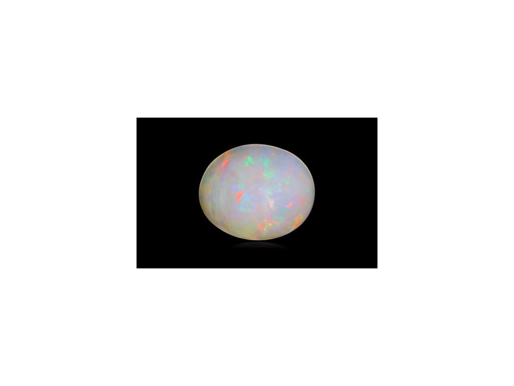 White Opal With Fire - 1.90 carats