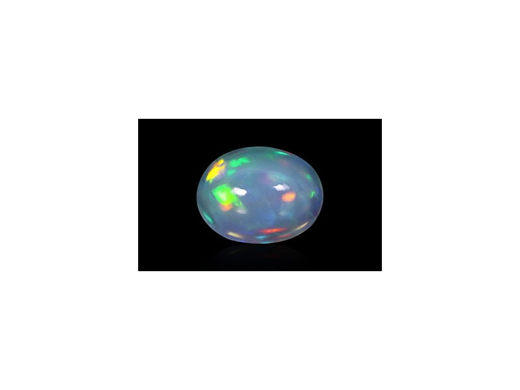 White Opal With Fire - 1.45 carats
