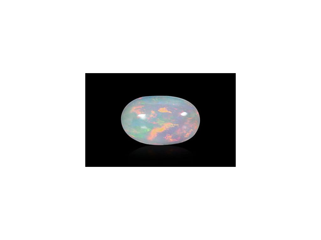 White Opal With Fire - 1.27 carats