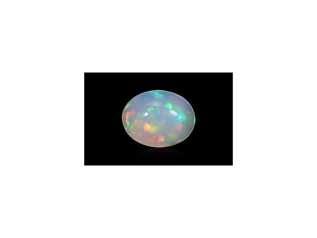White Opal With Fire - 1.93 carats