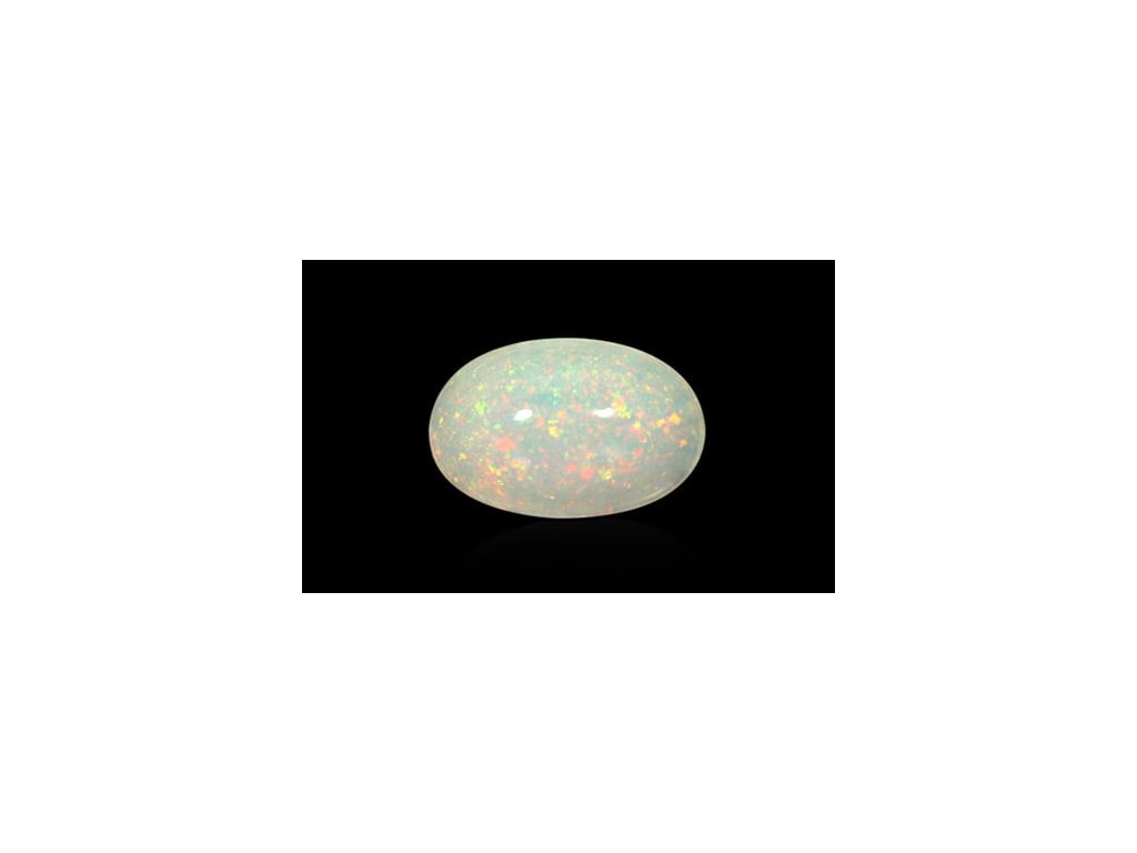 White Opal With Fire - 2 carats