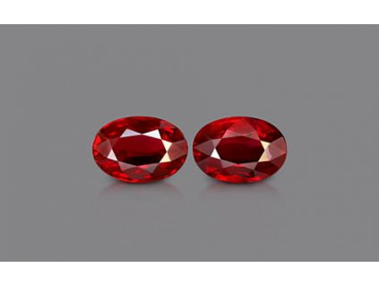 Pigeon Blood Ruby Pair - 2.07 carats
