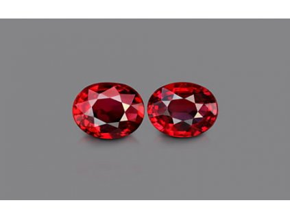 Pigeon Blood Ruby Pair - 2.08 carats