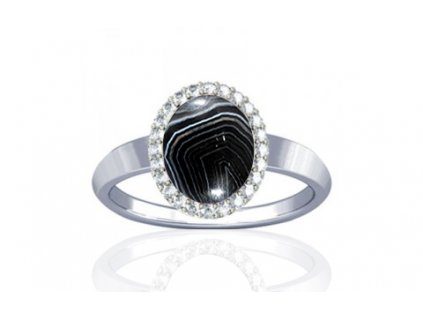 ring onyx striped r1 sparkle ster silver 150720