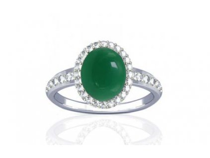 ring onyx green r1 dazzle ster silver 150720