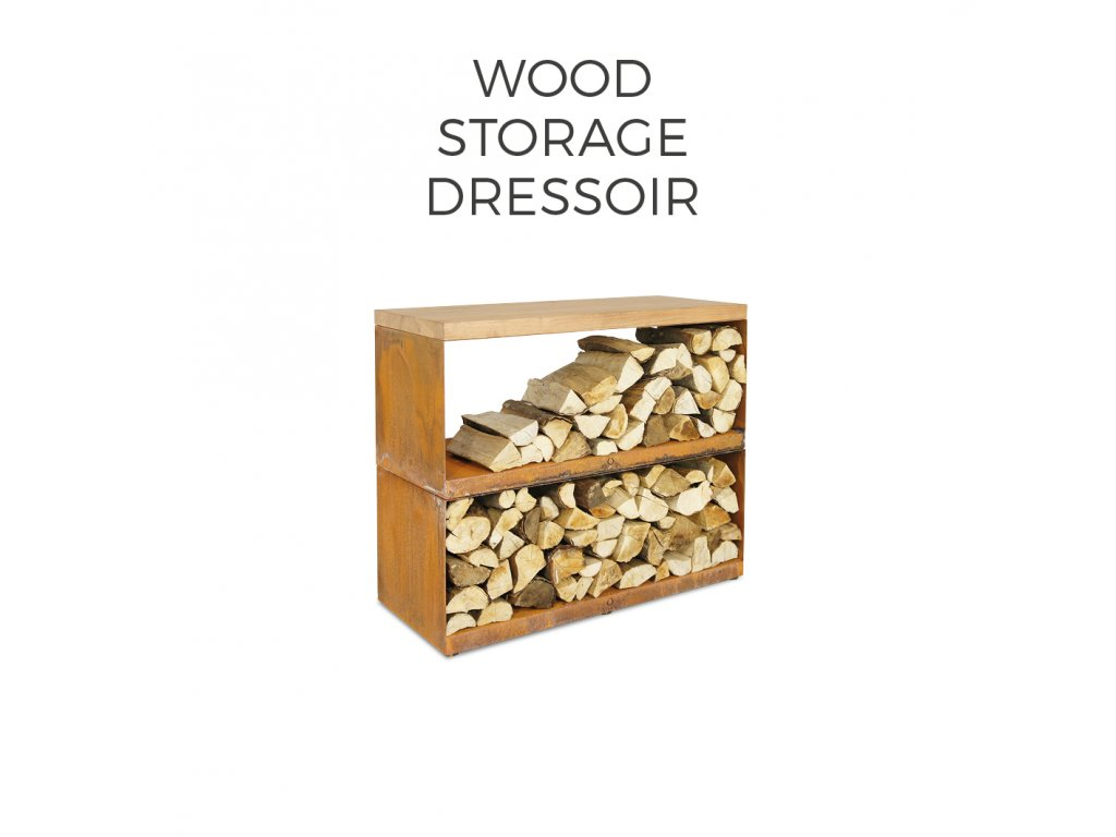 WOOD STORAGE DRESSOIR