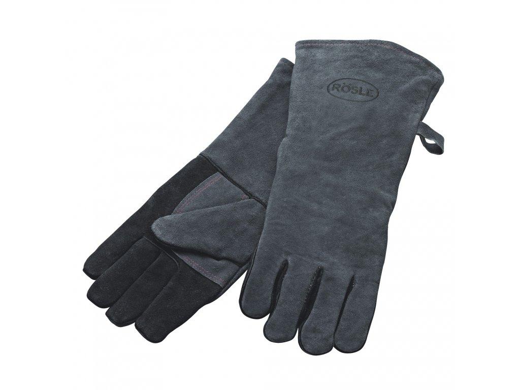 Kožené rukavice na grilování 2 ks