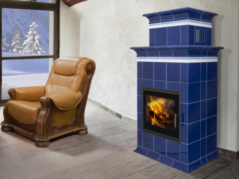 Baracca 1N - TV kachlová kamna s teplovodním výměníkem