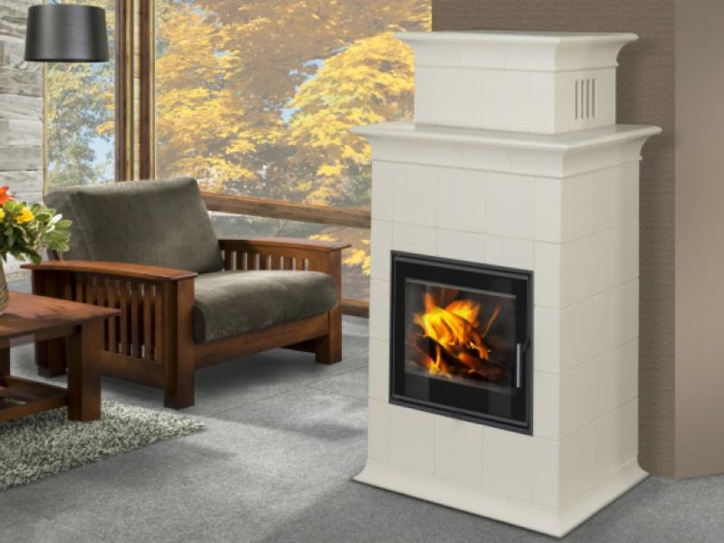Baracca 2N - TV kachlová kamna s teplovodním výměníkem