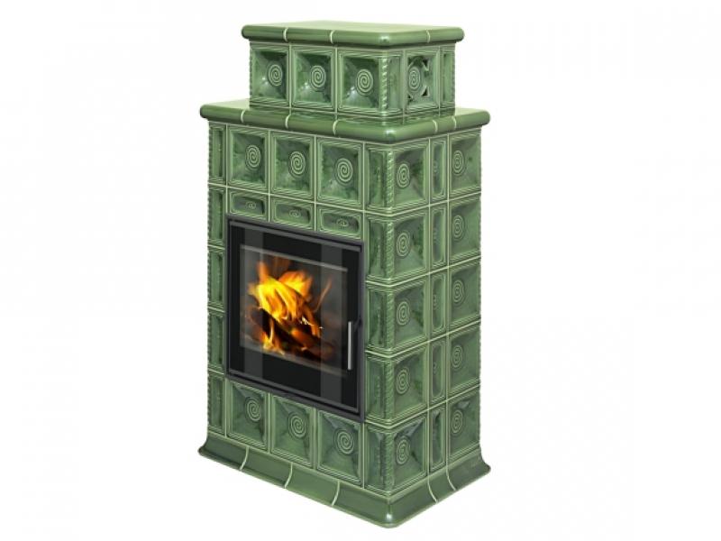 Baracca 4 TV kachlová kamna s teplovodním výměníkem