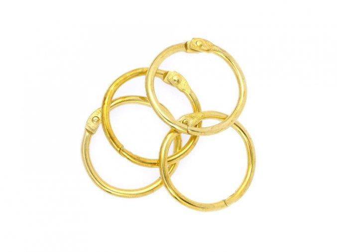 Spojovaci krouzky zlata 25 mm 4 ks