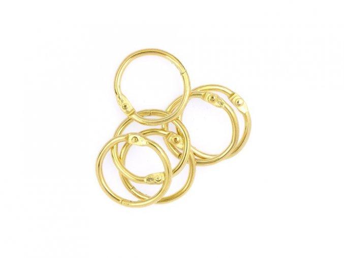 Spojovaci krouzky zlata 19 mm 6 ks
