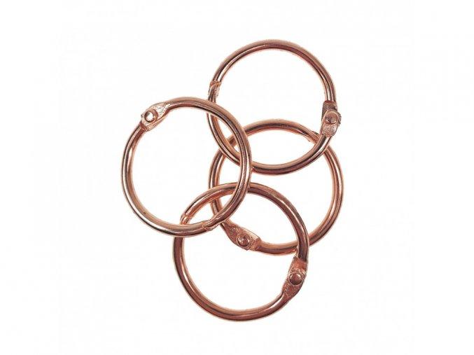 Spojovaci krouzky rose gold 38 mm 4 ks