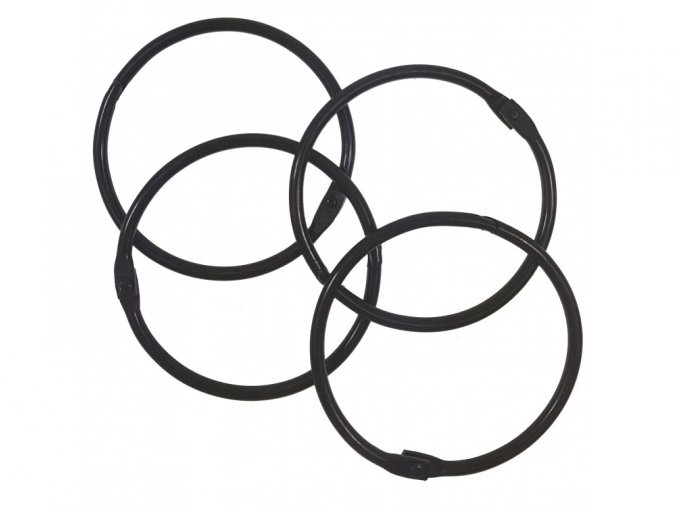 Spojovaci krouzky cerna 50 mm 4 ks