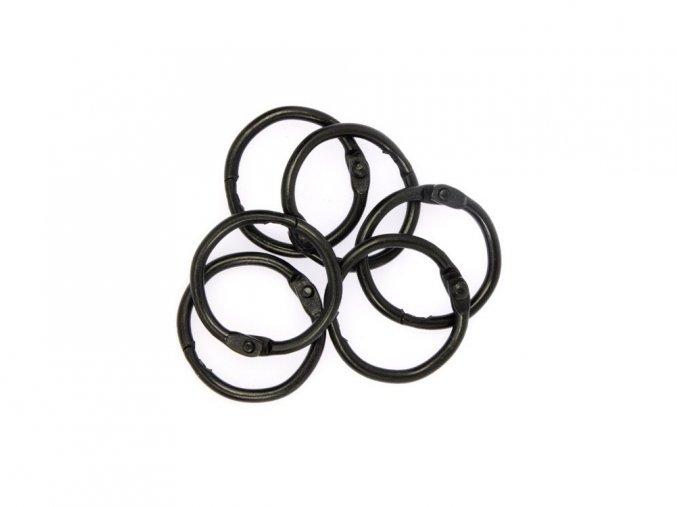 Spojovaci krouzky cerna 19 mm 6 ks